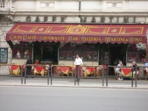 Grand Caffe restaurant with Colosseum view