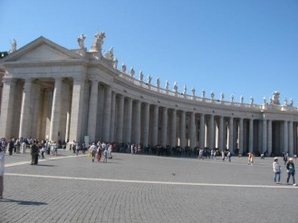 Saint Peters square in the Vatican