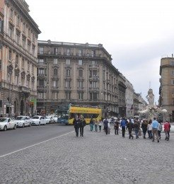 Many major streets join together in Piazza Barberini