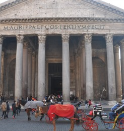 The Pantheon is one of the most famous tourist attraction