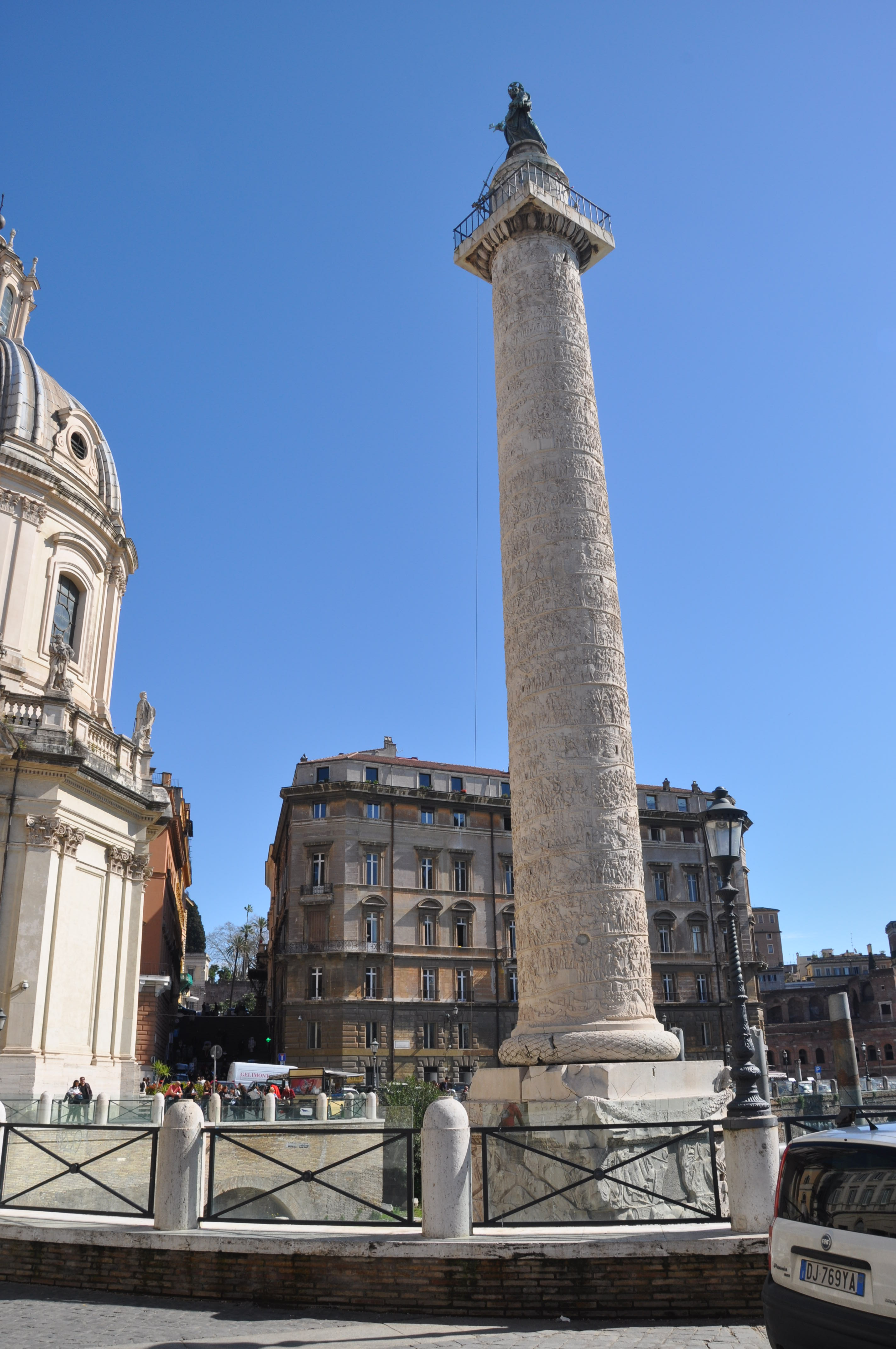 trajans column The victory of the roman emperor trajan over the dacians in back-to-back wars is carved in numerous scenes that spiral up around a 126-foot marble pillar in rome known as trajan's column it's a tale that reads like an ancient comic strip.