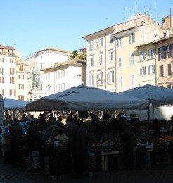 Campo de Fiori in Rome Italy