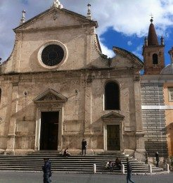 Church Santa Maria del Popolo is situated on the north side of Piazza del Popolo.