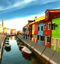 Island of Burano Venice Itlay