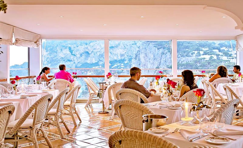 Terrazza Brunella Restaurant Capri Travel Through Italy