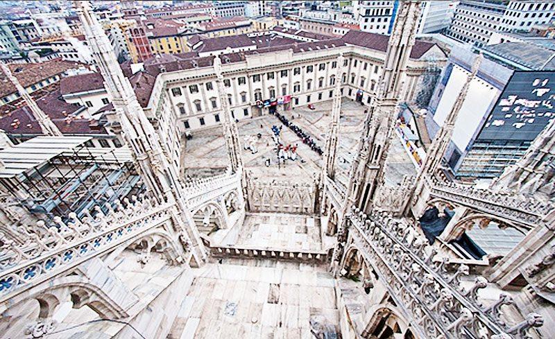 Milan Duomo Rooftop Terrace