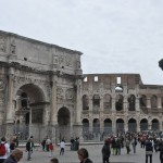 The Colosseum is next to the Roman Forum