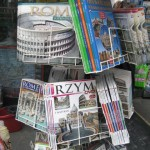 Books-and-DVDs-about-Rome-in-various-languages.