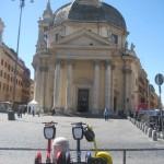 Santa Maria dei Miracoli church facing Piazza del Popolo