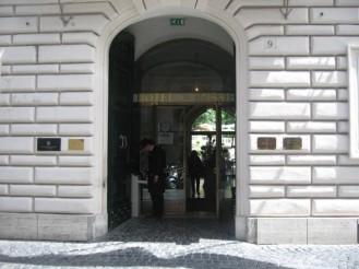 Entrance Hotel De Russie Rome Italy