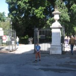 Entrance from Via Pinciana