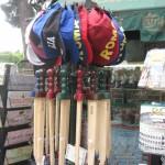 Souvenir - wooden swords and baseball caps
