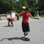 Rollerbladers in Villa Borghese