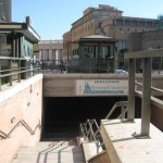 The underground passage you must take from Via di Porta Cavalleggeri to the Vatican