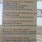 St. Peter's Basilica Mass schedule