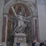 Statues inside Saint Peter's church