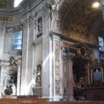 Wonderful sculptures inside the St. Peters Basilica
