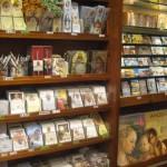Souvenir shop next to the Basilca sells religious articles