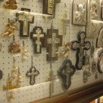 Souvenir shop next to the exit of the St. Peters Basilica