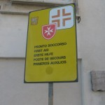 First aid place directly on the Square to your right when you come out of the Basilica