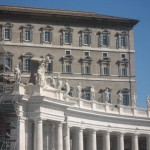 The Papal apartments in the background