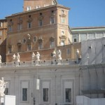The Popal residence faces St. Peters square