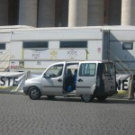 A mobile post office put in St. Peter's Square