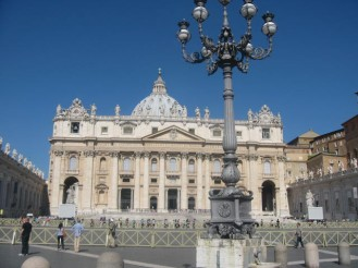 A view on the Basilica from St. Peter's Square