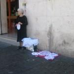 Vatican streets are full of souvenir shops