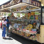 Food stand next to Vatican Museum