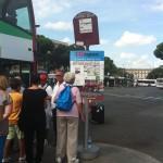 110 open bus Termini station