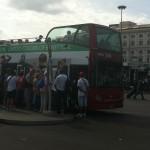 110 open bus at Termini stop