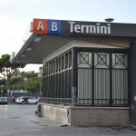 Metro access from Piazza dei Cinquecento at the main entrance