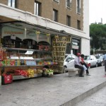 Snack stands in Rome