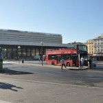 Termini station-hop on hop off bus station in front of Termini