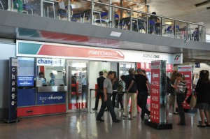 Termini station exchange booth