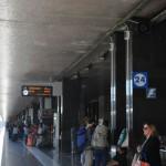 Termini station - Leonardo express train to Fiumicino airport departs at train tracks number 24