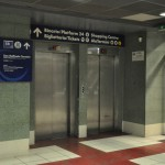 Termini station - elevator that will take you up to Platform 24 and to the upper floor of Termini station from the luggage deposit