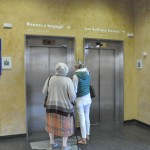 Termini station - This is the elevator that takes you down to the luggage deposit from the Via Gioitti entrance side