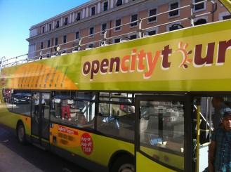 Open city tour bus rome