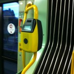 this is where you validate your ticket on the tram