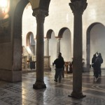 Santa Maria in Cosmedin church is naturally illuminated from the sun beams outside