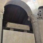 Roman colomns hold up the Santa Maria in Cosmedin church