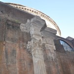 The dome of the Pantheon is also impressive on the outside