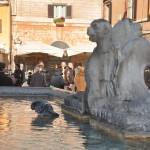 The Pantheon fountain in Piazza della Rotonda