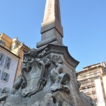 The square in front of the Pantheon has a superb fountain