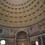 A heavenly light shining through the Pantheon