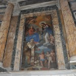 The Pantheon has many art pieces inside