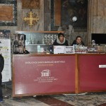 A sales and info point inside the Pantheon