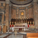 Mass is held inside the Pantheon
